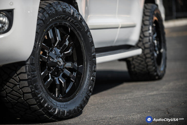20″ Fuel Wheels D595 Sledge Gloss Black Milled Rims | 33×12.5×20 RBP Tires | AMS Suspension Leveling Kit | 2012 Toyota Sequoia