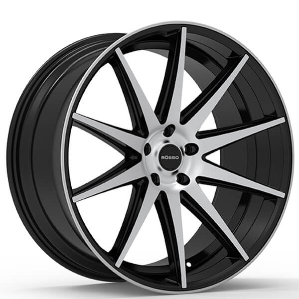 "Kia West Covina >> 20"" Paragon Wheels Rosso Legacy Gloss Black Machined Rims ..."