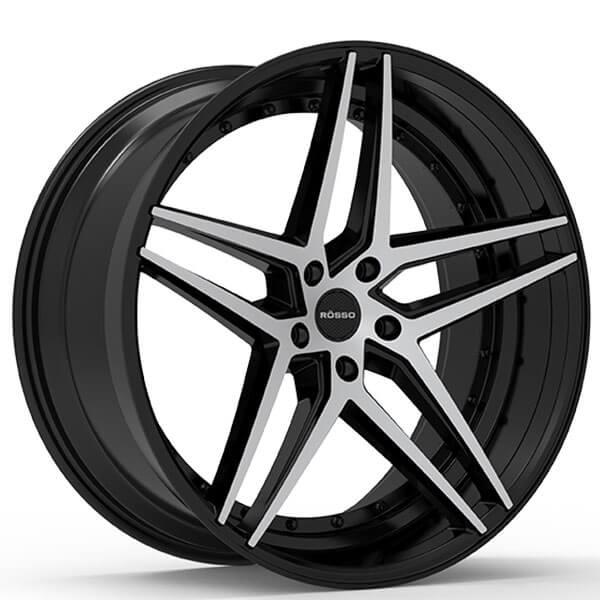 """Jaguar Xjr Lease: 22"""" Paragon Wheels Rosso-Affinity Chrome Rims"""