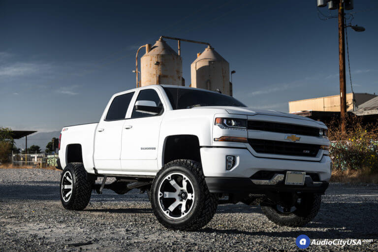 20″ Fuel Wheels D564 Beast Custom Color Matched Rims | 35×12.5×20 Fuel Gripper MT Tires | 8″ Superlift Suspension Lift Kit | 2017 Chevy Silverado 1500 Z71 4×4