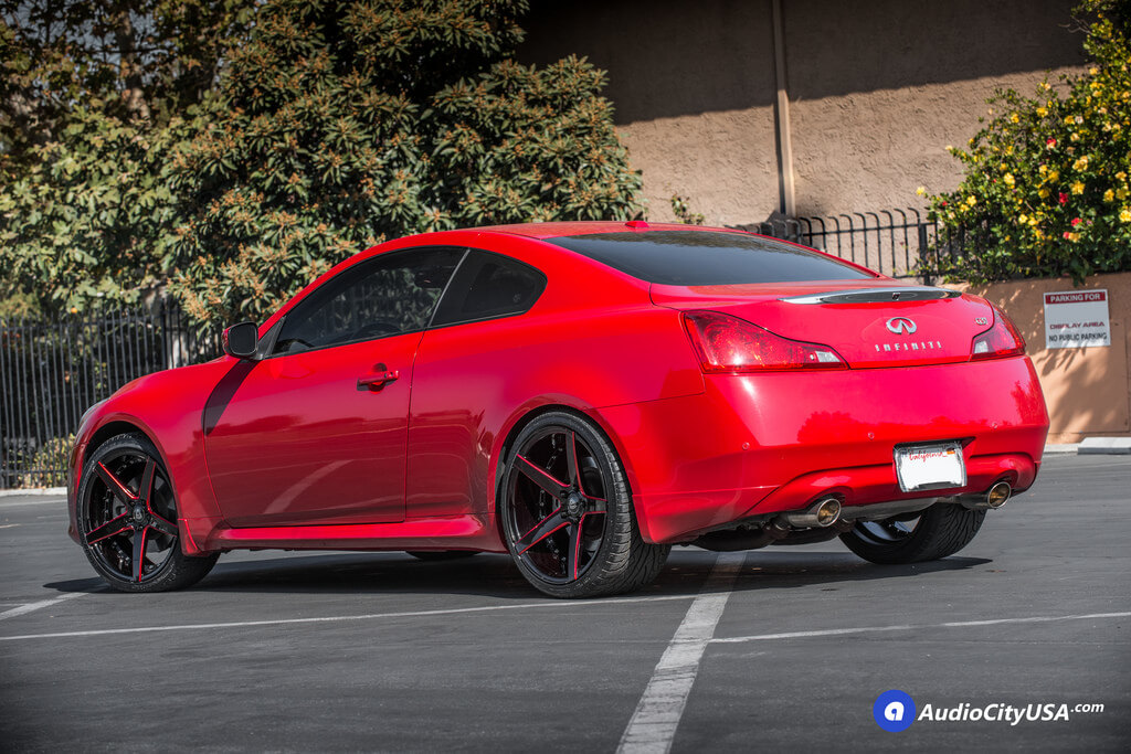 20 Marquee Wheel 3226 Gloss Black With Red Accent Rims 2013