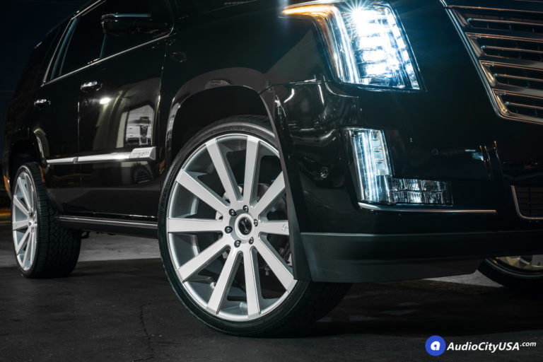 2017 Cadillac Escalade | 26×10.5 Gianelle Wheels Santoneo Silver Ball Cuts | 305-30-26 Ohtsu ST5000 All Season