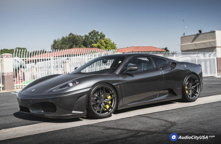 Ferrari F430 | 20″ Stance Wheels SF03 Satin Graphite Finish | AudioCityUsa