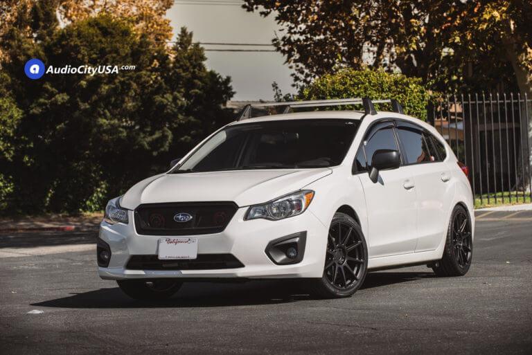 18″ Niche Wheels M147 Essen Satin Black Rims   225-40-18 Hankook Tires   2014 Subaru Impreza