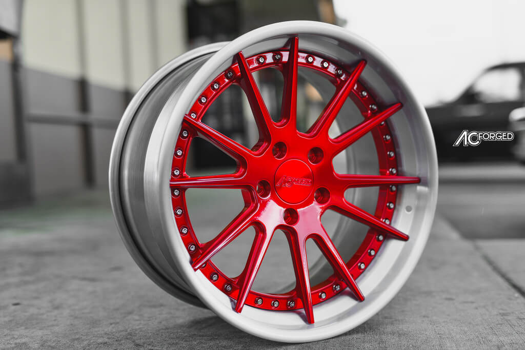 19 Ac Forged Wheels Acr 316 Candy Apple Red Brush Silver Step Lip Built For Bmw 328 I Blg110417 Audio City Usaaudio City Usa