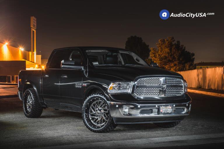 22″ Fuel Wheels D211 Triton Chrome with Black Lip Rims | 33×12.5×22 RBP MT Tires | 2017 Dodge RAM 1500