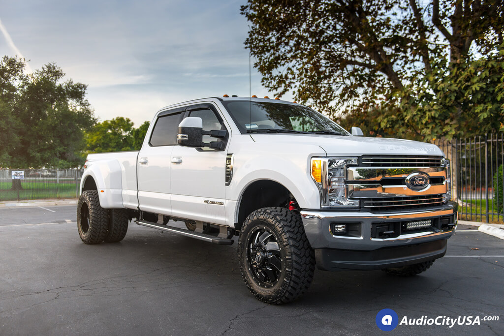 F350 Dually Wheels >> 20 Fuel Wheels D574 Cleaver Gloss Black Milled Rims 275 65 20