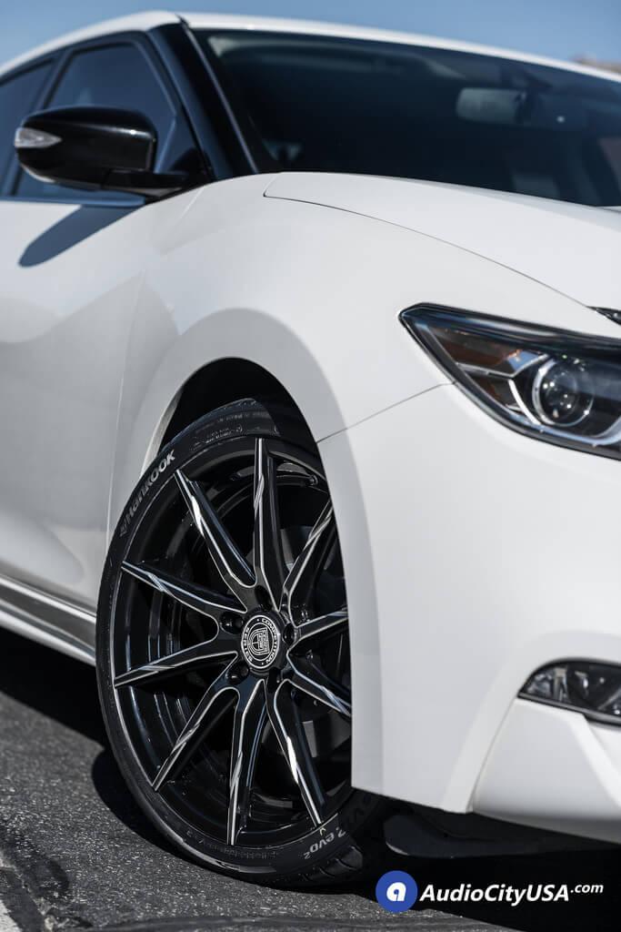 Nissan Maxima Black Rims