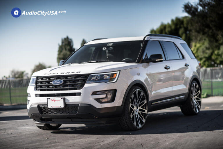 Ford Explorer | 24×10 Road Force Wheels RF24 Black Machine | 275-30-24 Tires | AudioCityUsa