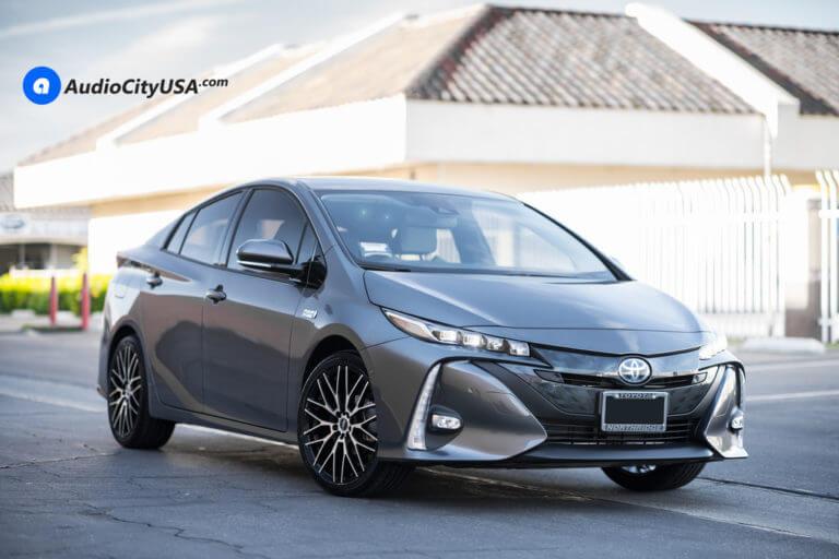 2017 Toyota Prius Prime | 18×7.5 DRW Wheels D3 Black Machine Finish | 225-40-18 Tires | AudioCityUsa