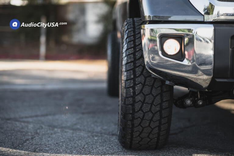 20″ Fuel Wheels D615 Contra Gloss Black Milled Rims | 35×12.5×20 Radar AT Tires | 4″ Fabtech Lift Kit | 2018 Toyota Tundra