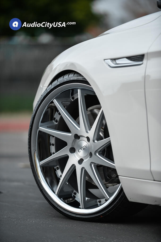 22 Quot Azad Wheels Az23 Silver Machined With Chrome Lip Rims