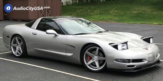 19″/20″ Staggered Savini Wheels BM11 Brushed Silver Rims | Hankook Tires Ventus V12 | 2004 Chevy Corvette C5