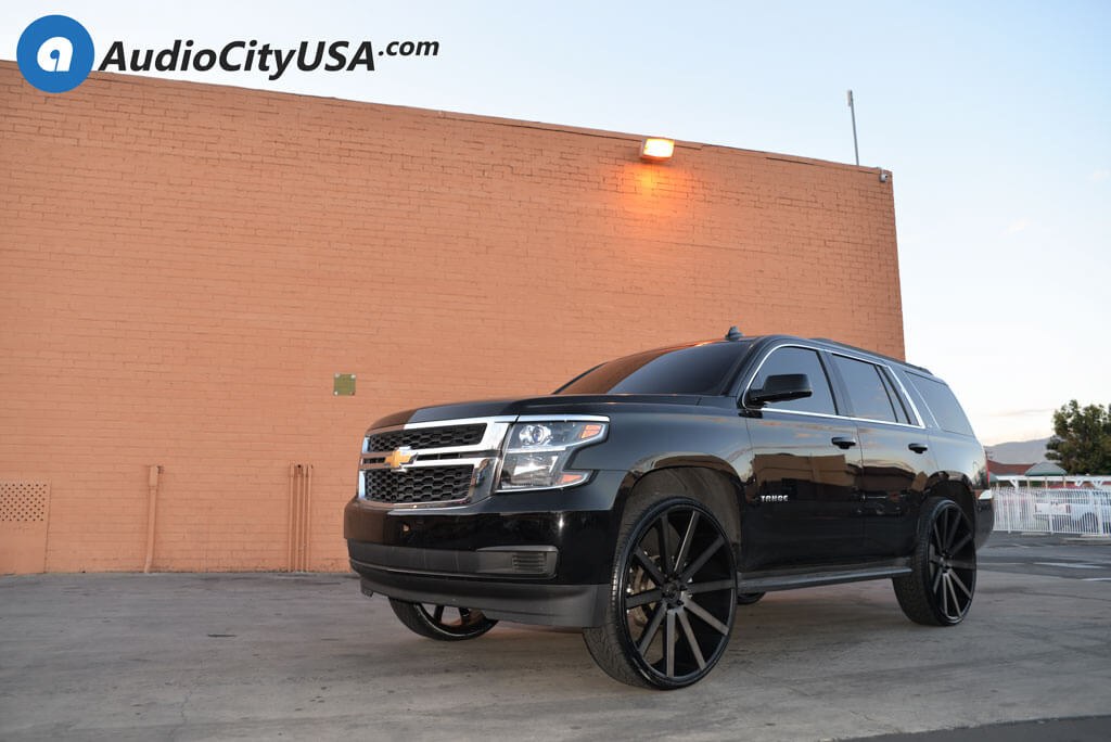 30 Dub Wheels S121 Shot Calla Black Machined With Double Dark Tint Rims 2 5 Ams Leveling Kit 2016 Chevy Tahoe Blg021418 Blogblog