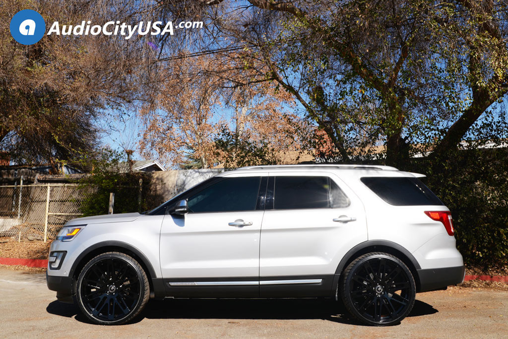 "Ford Explorer With Black Rims >> 24"" Road Force Wheels RF24 Gloss Black Rims 