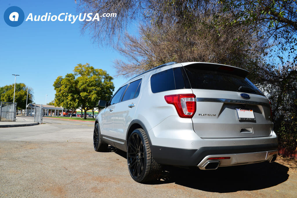 Ford Explorer Black Rims >> 24 Road Force Wheels Rf24 Gloss Black Rims 275 30 24