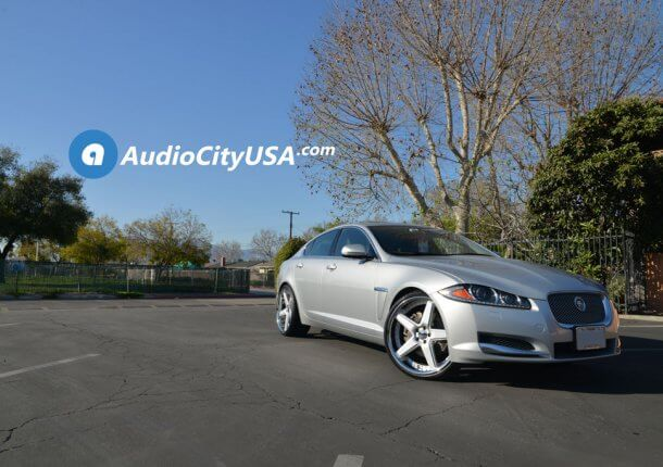 22u2033 Azad Wheels AZ008 Semi Matte Silver With Chrome SS Lip Rims | 2014  Jaguar