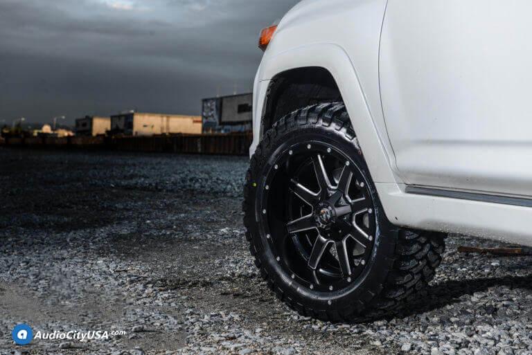 """20"""" Fuel Wheels D538 Maverick Black Milled Off-Road Rims"""