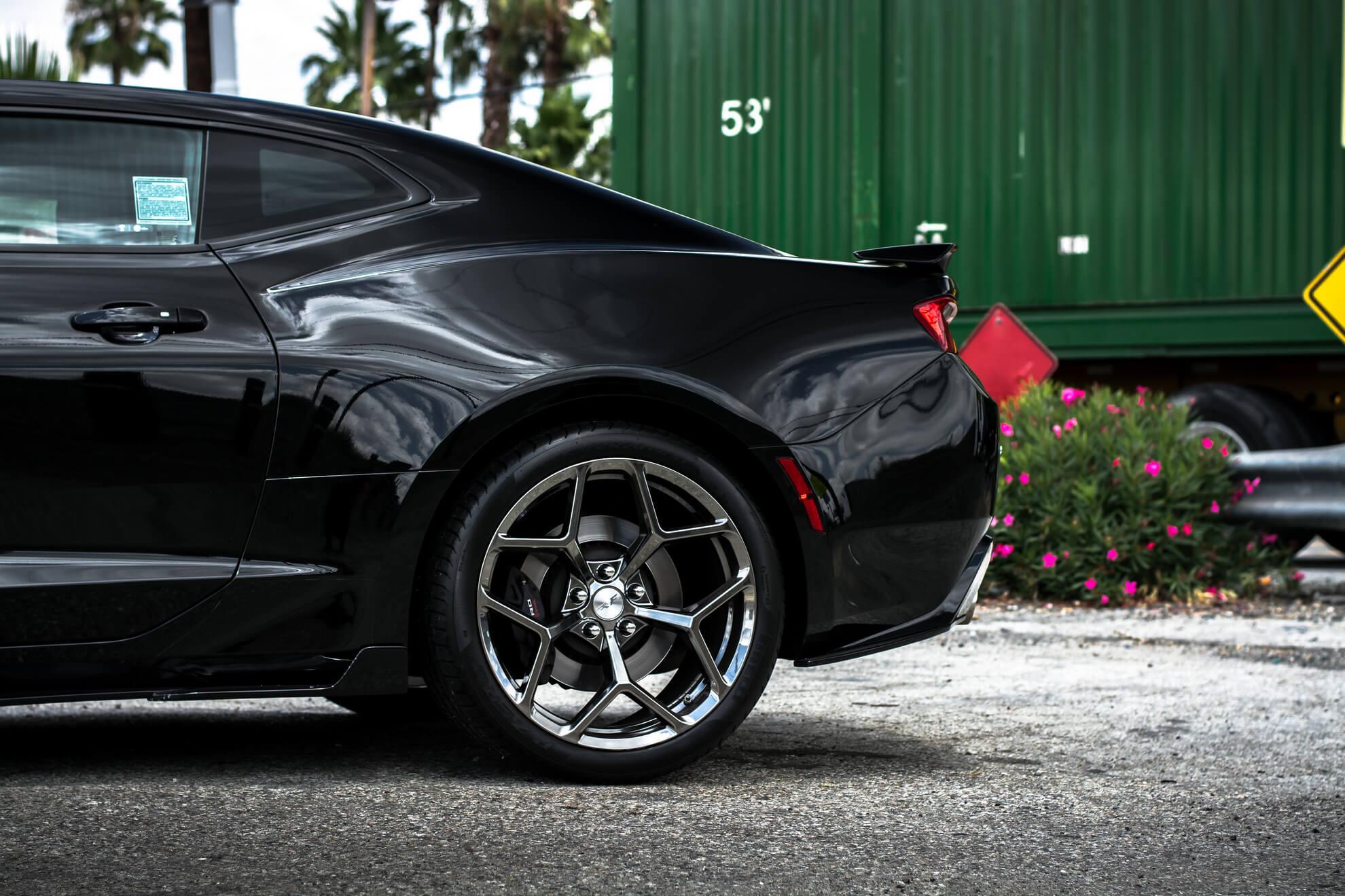 "Pirelli P Zero >> 20"" Factory Flow Form Wheels V028 Black Chrome Light ..."