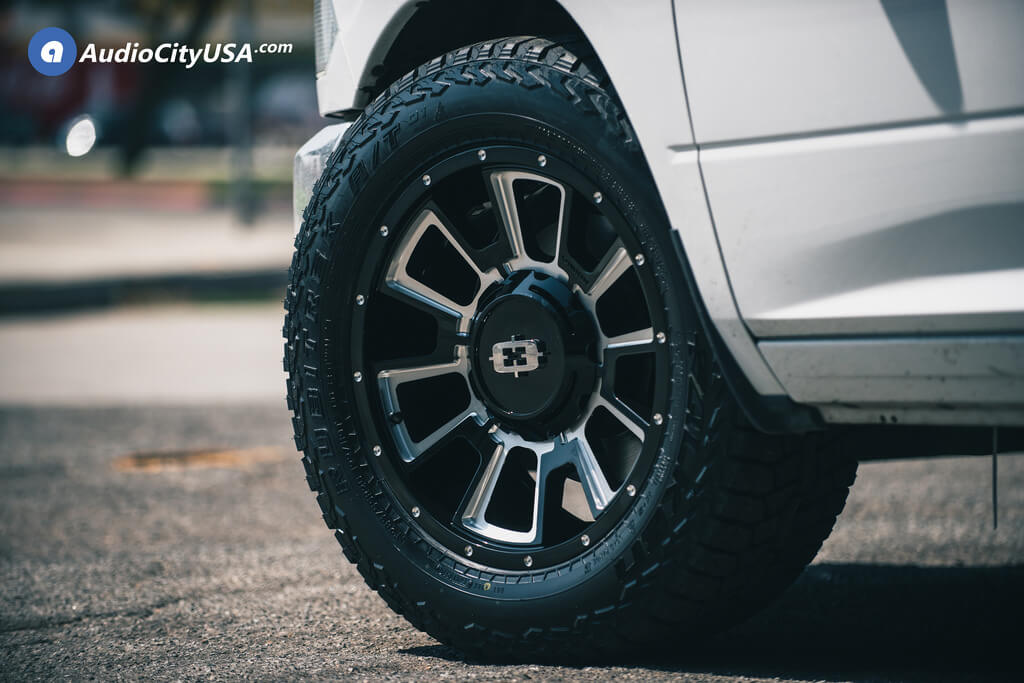 "20"" Vision Wheels 391 Rebel Gloss Black Machined Rims"