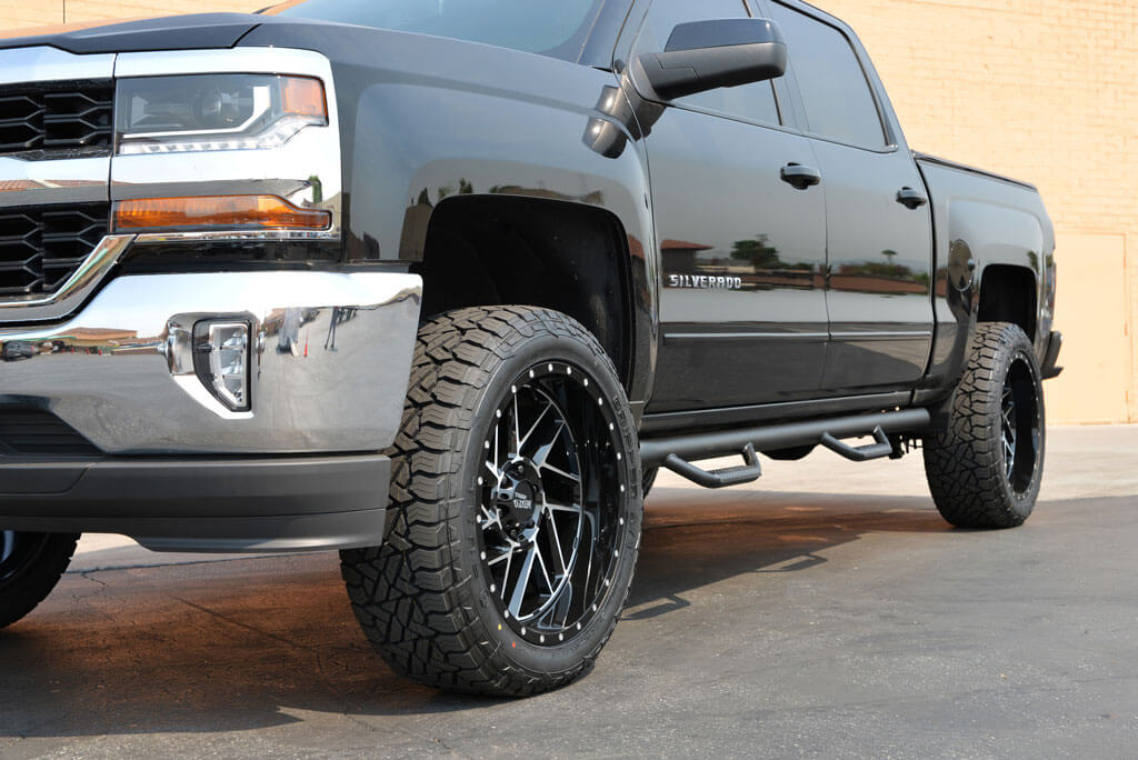 "Rims For Chevy Silverado 1500 >> 22"" Moto Metal Wheels MO985 Breakout Gloss Black Machined Off-Road Rims 