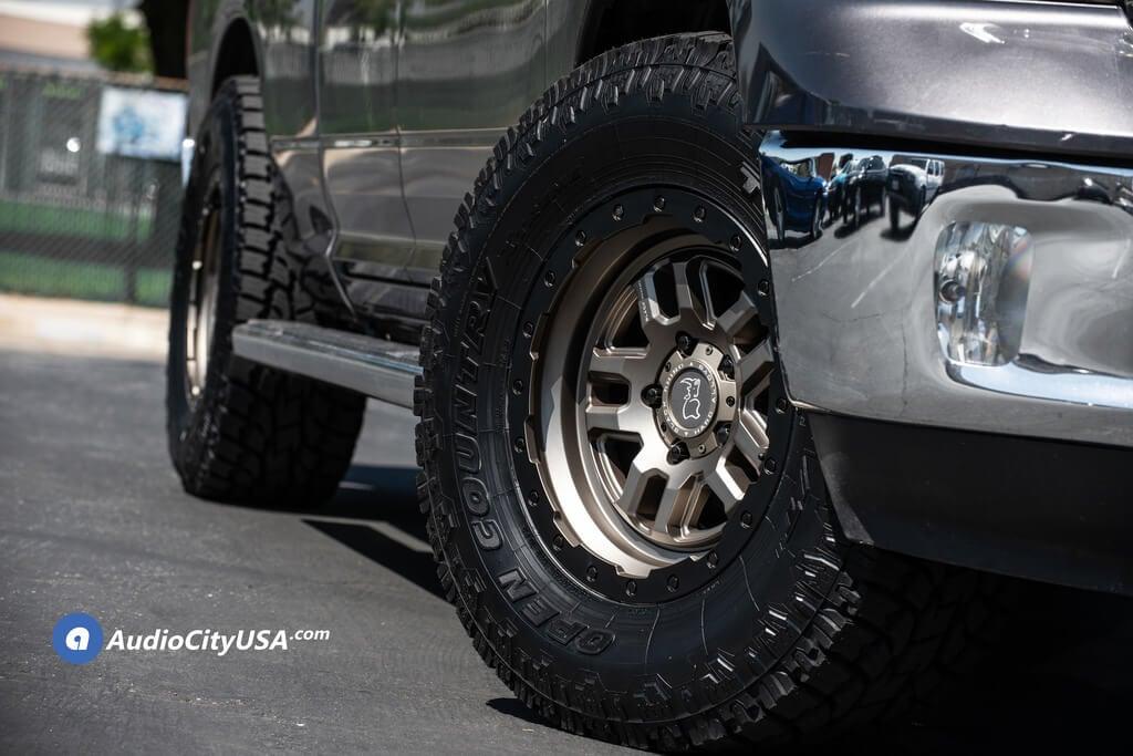 18″ Black Rhino Wheels Barstow Matte Bronze with Matte Black Lip Ring Off-Road Rims for 2015 Dodge Ram 1500