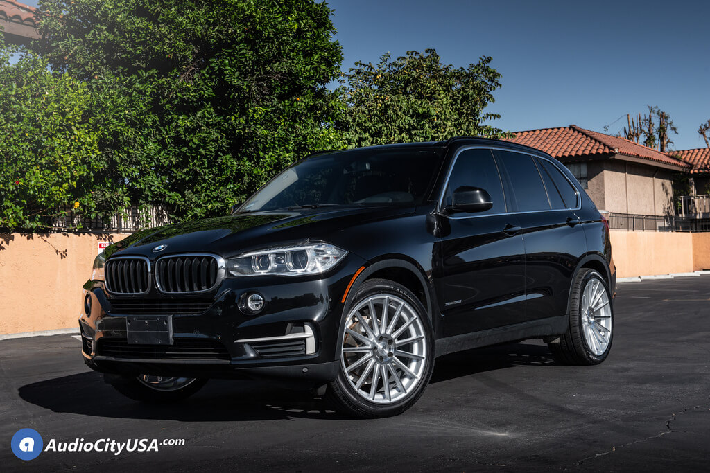 """22"""" Road Force Wheels RF 15 Silver Rims for 2014 BMW X5  Audio City USA"""