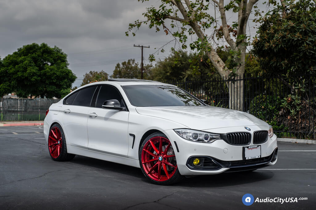 20 Staggered Niche Wheels M213 Sector Gloss Red Rims Nitto Tires Nt 555 2016 Bmw 428 I Gran Coupe 4 Series Blg100618 Audio City Usaaudio City Usa
