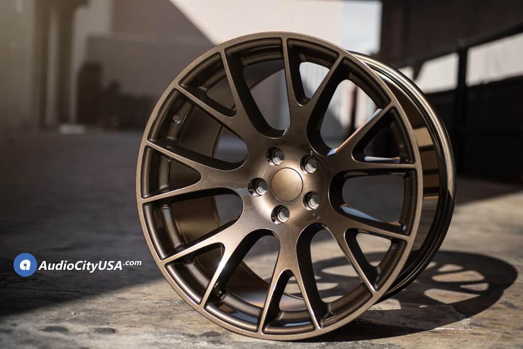 20 Hellcat Wheels Gloss Bronze Oem Replica Rims Lexani Tires Lx