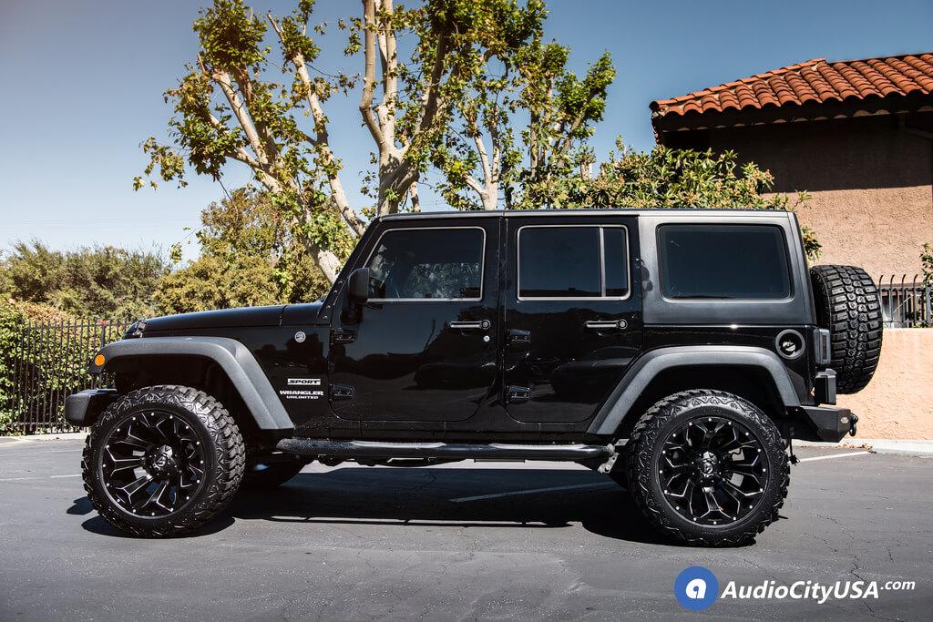 20″ Fuel Wheels D546 Assault Black Milled Off-Road Rims for 2016 Jeep Wrangler JK