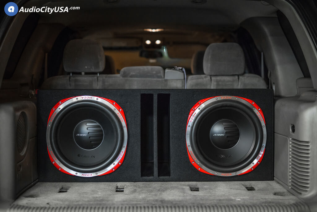 Orion HCCA Subwoofer Sub and 2 RE Audio SA 3000.1 Amplifiers