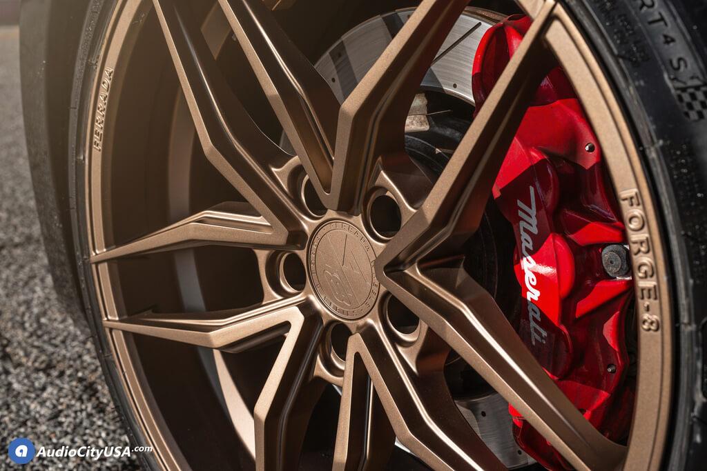 "20"" Staggered Ferrada Wheels F8-FR5 Matte Bronze Rims"