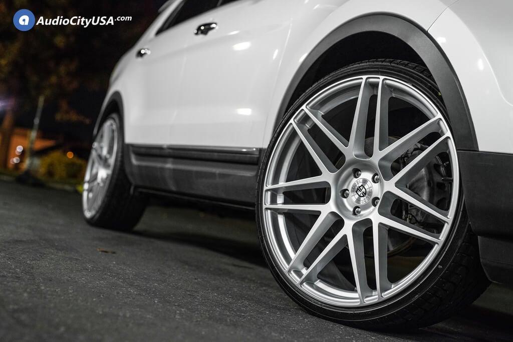 "24"" Curva Wheels C300 Silver Rims"