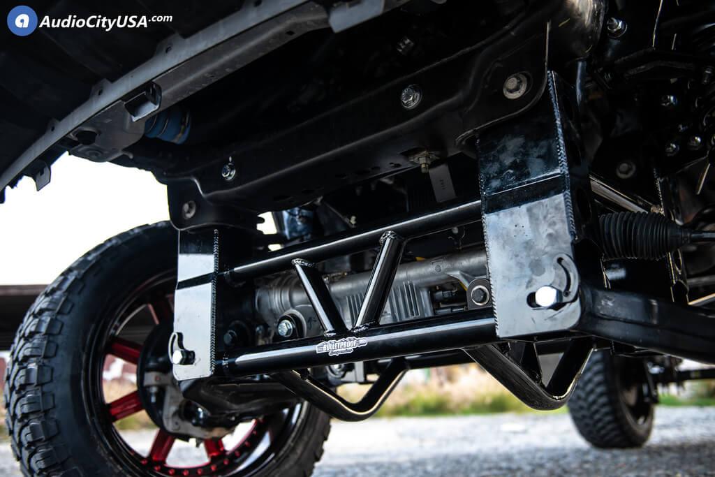 Bulletproof Lift Kit >> 24 Fuel Wheels D260 Maverick Candy Apple Red With Gloss Black Lip