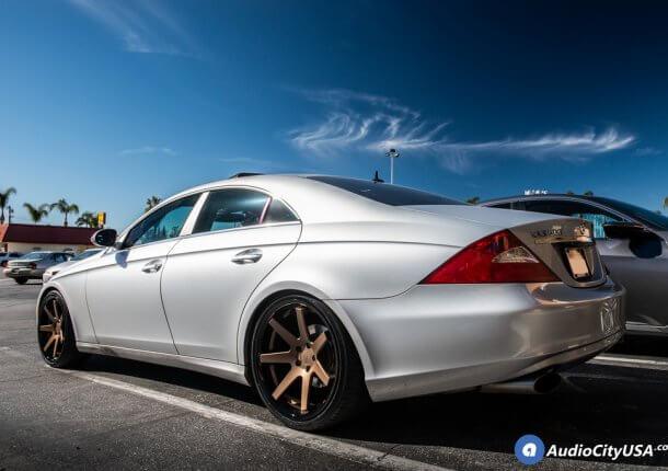 20 Staggered Ferrada Wheels Fr1 Matte Bronze With Gloss Black Lip Rims Delinte Tires