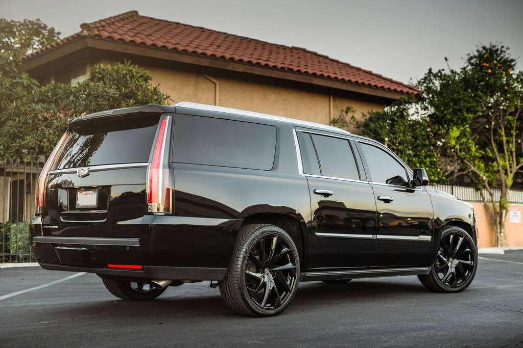 """24"""" Lexani Wheels Ghost Gloss black Rims"""
