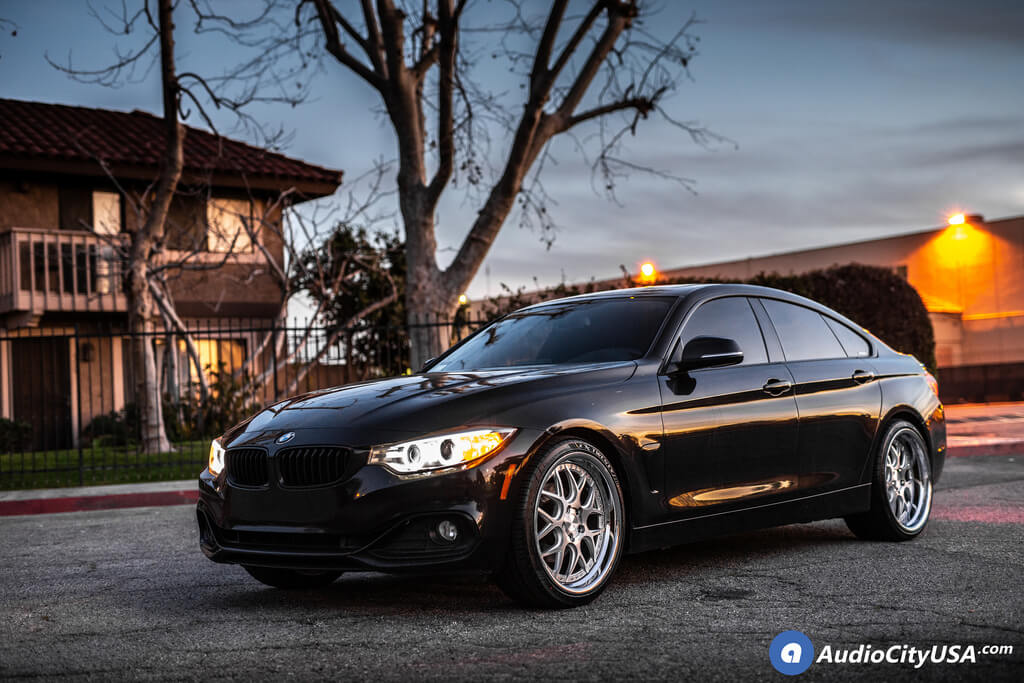 """20"""" Staggered Rennen Wheels CSL 2 Silver with Chrome Step Lip Rims"""