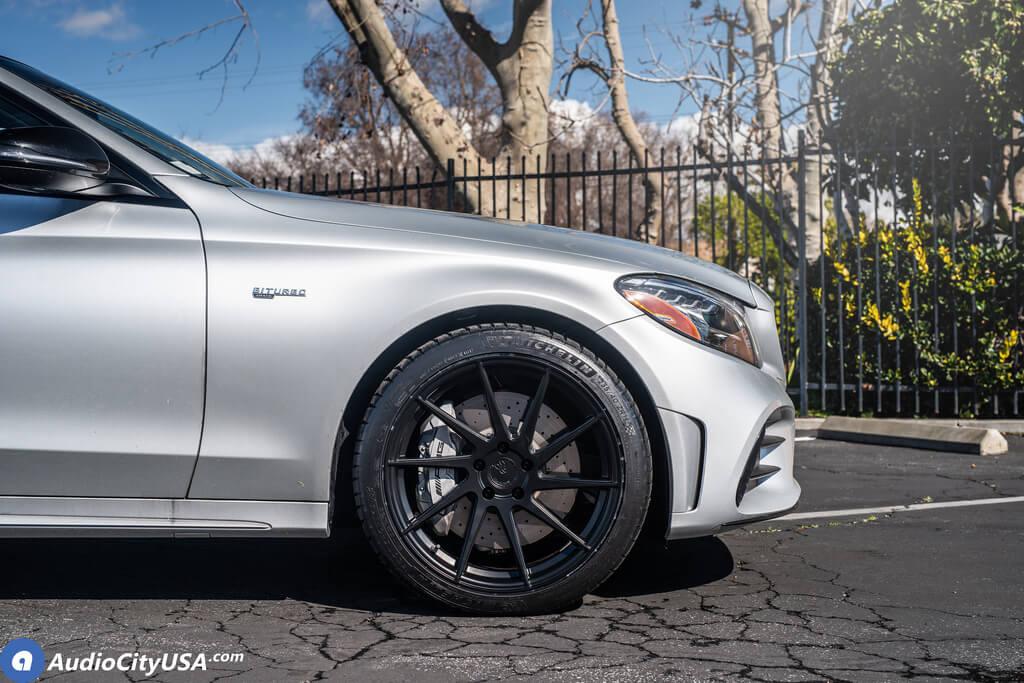 "Mercedes C43 Amg >> 19"" Staggered Avant Garde Wheels M621 Matte Black Rims ..."