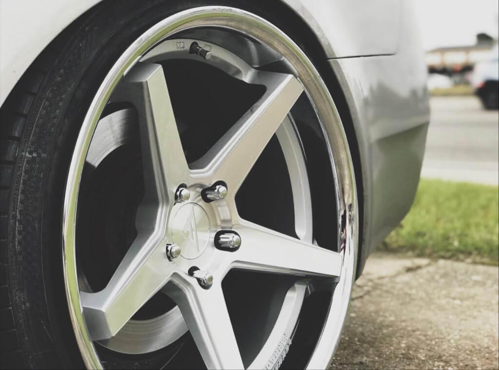 "20"" Ferrada Wheels FR3 Silver Machined with Chrome Lip Rims for Acura TL"