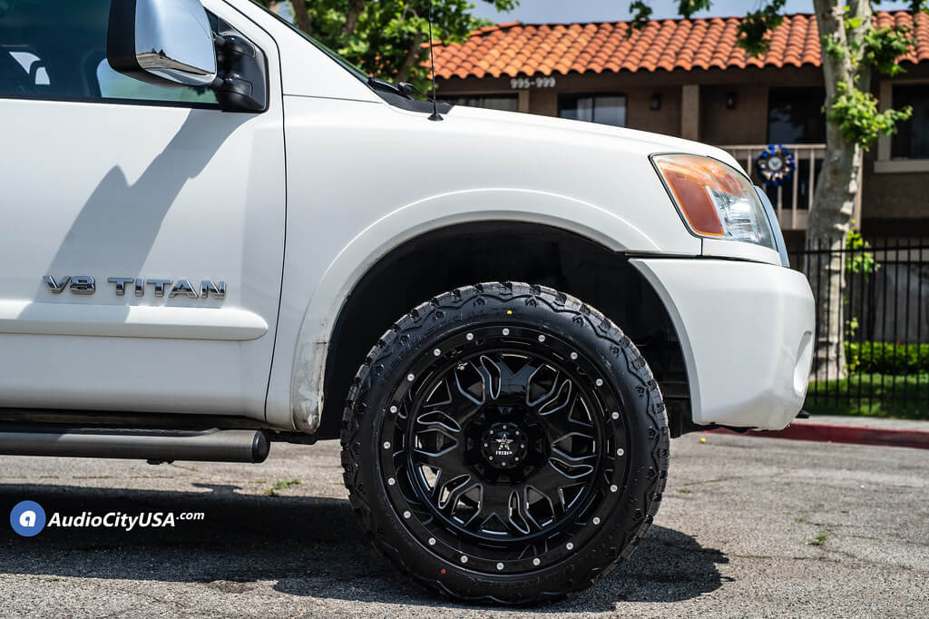 "20"" RBP Wheels 87R Blade Gloss Black Milled Off-Road Rims"