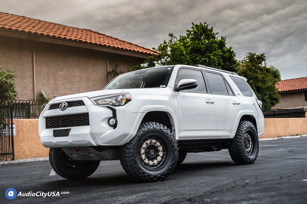 18 Black Rhino Wheels Arsenal Sand On Black Off Road Rims Nitto Trail Grappler Mt Tires 2 1 2 Ams Suspension Baja Style 2019 Toyota 4 Runner 4x4 Audiocityusa Blg051019 Audio City Usaaudio City Usa