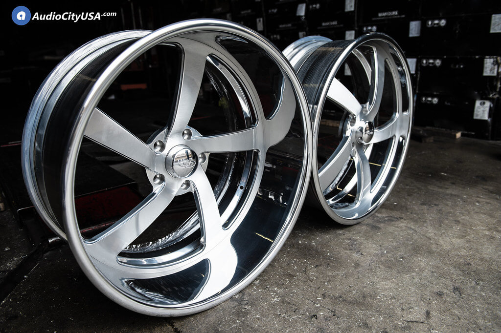 24×9 & 24×12 Intro Wheels Twisted Rally Brush Face Polish LIP and Windws Rims for  Chevy C10   Audio City USA