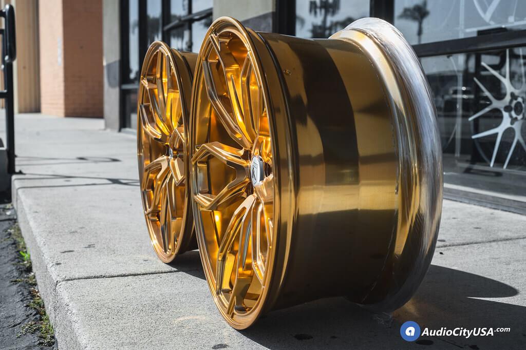 "20"" Asanti Wheels ABL-19 Polish over Hi-Lust Gold"