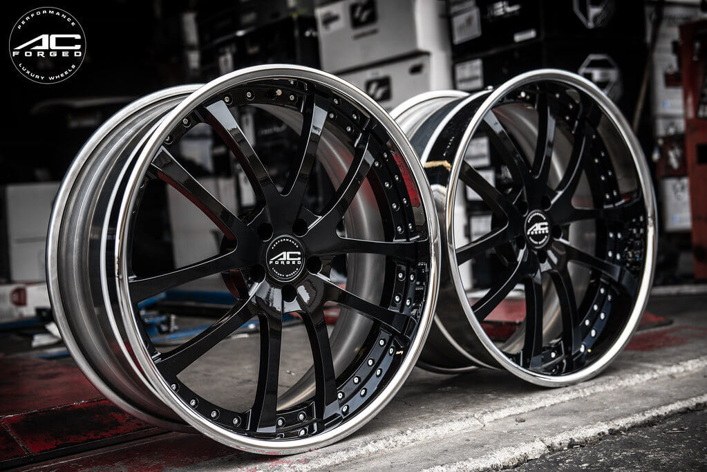 "22"" Staggered AC Forged Wheels AC 312 Black Face"