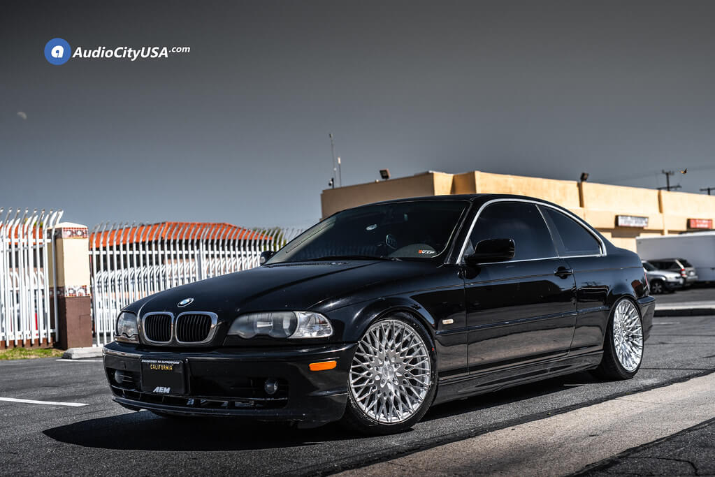 """18"""" Staggered Avant Garde Wheels M540 Silver Machined Rims"""