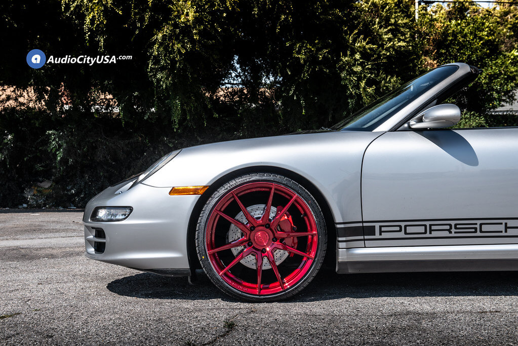 "20"" Staggered Rohana Wheels RFX2 Gloss Red Rims"