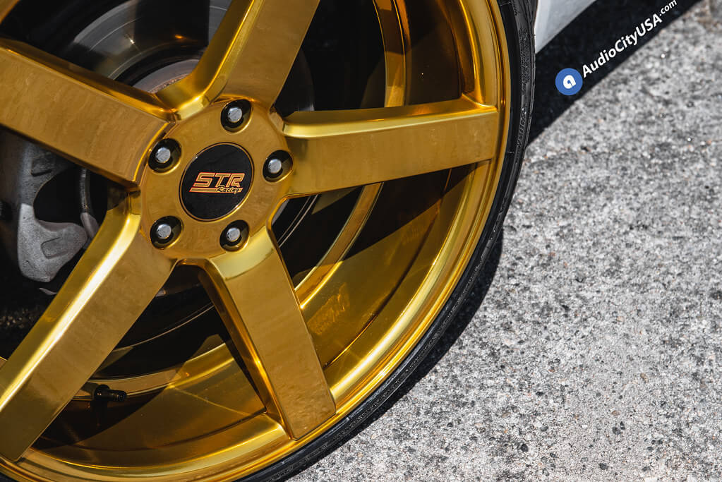 """20"""" Staggered STR Wheels 607 Gold Rims"""