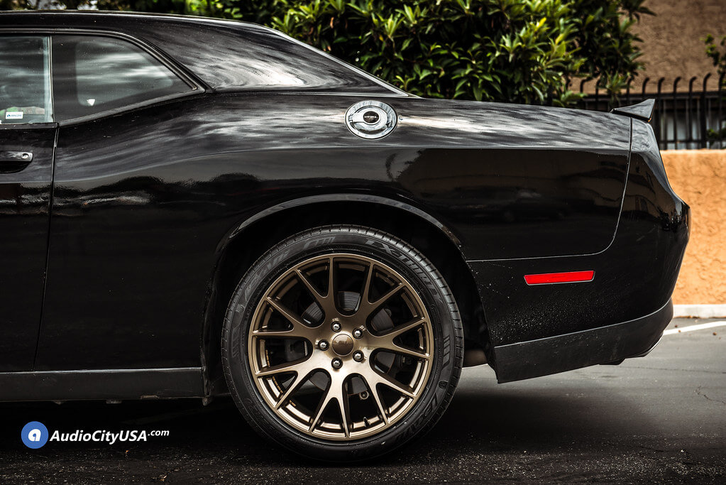 "20"" Staggered Dodge Challenger Hellcat Wheels Bronze OEM Replica Rims | Audio City USA"