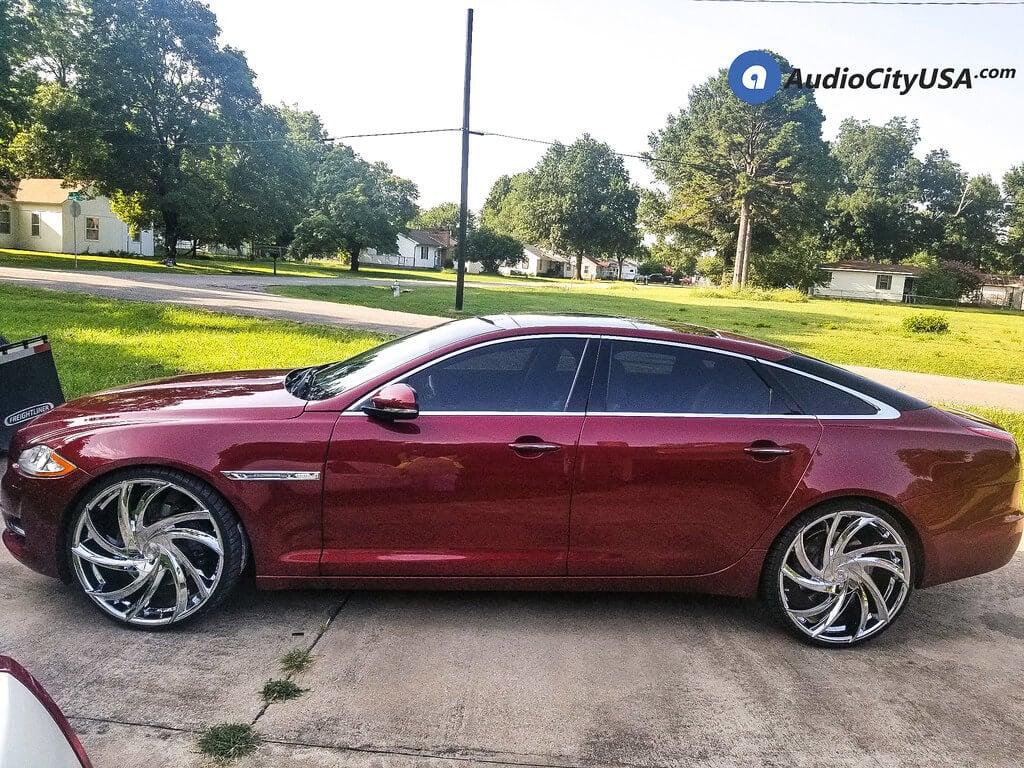 "24"" Staggered Lexani Wheels Twister Chrome Rims"
