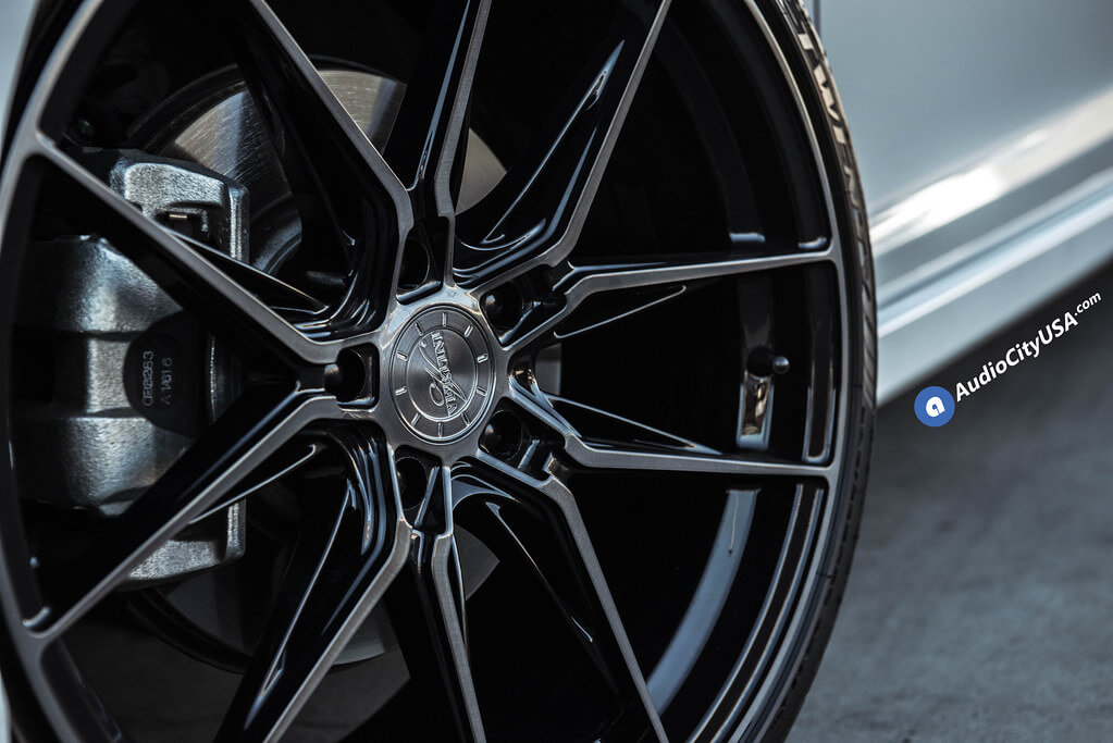 "20"" Staggered Vertini Wheels RFS1.8 Dual Black Rims"